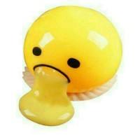 Squishy / Splat Toy TELUR MUNTAH / Lazy Gudetama Vomiting Egg Toy