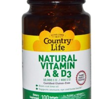 Country Life Natural Vitamin A & D3 10,000 IU/400 IU 100 Softgels
