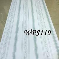 WALLPAPER STICKER 45CMX5M- WPS119-WHITE N GREEN LINE VECTOR