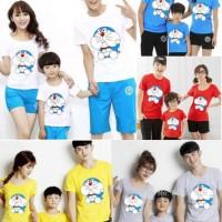 (5 warna) CUBBY DORA Family Couple Baju Kaos cp fm Keluarga doraemon