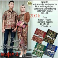 Baju Kondangan Setelan Couple Baju Wanita Baju Muslim Kebaya Batik