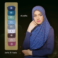 Jilbab instan ELZATTA Zalfa M Faela motif cantik 2017