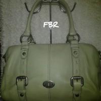 Fossil Maddox Green Sage Satchel Leather - Tas Original FA09