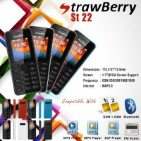 Hp murah strawberry st22 mirip nokia 105 baru garansi 1thn