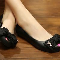 harga Sepatu Wanita Pita Flat Jelly Shoes Ribbon Cantik Tokopedia.com