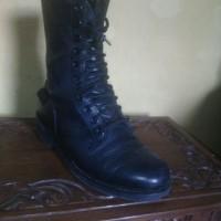 Sepatu Harley Davidson - Black Boot