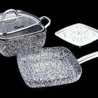 Oxone Ox-05sq 5pcs Panci Granite Cookware Set