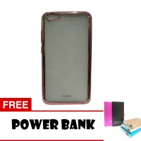 Softcase List Chrom Aircase For Vivo V5 + Free Power Bank