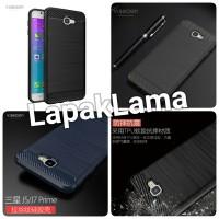 Case Viseaon Samsung Galaxy J5 J7 Prime Soft Back Case Carbon Fiber