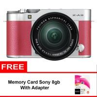 Fujifilm X-A3 Kit 16-50mm - 24.2MP - Pink + Memory Sony 8gb