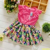 Dress yumiko flower kids/mini dress anak perempuan/baju pesta anak/AL