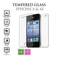 Tempered Glass Iphone 4 4s Belakang ( Back ) Anti Gores Screen Guard