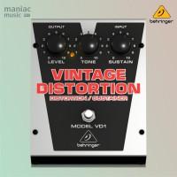 Behringer VD1 (Distorsi Vintage Sustainer, Pedal Efek Stompbox Gitar)