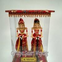 Jual Wayang golek miniatur Rama & Shinta box mika (merah) Murah