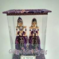 Jual Wayang Golek miniatur Rama & Shinta box mika (ungu) Murah