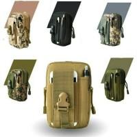 tas pinggang pria/waistbag belt/tas hp/dompet hp/mole tas army