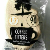 Jual COFFE FILTER - PAPER MADE IN JAPAN - KERTAS SARING TEH / KOPI 90 PCS Murah