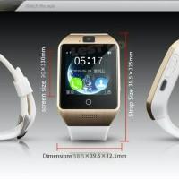 Jam Tangan Bluetooth Q18S Android IOS Support Sim TF Card