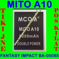Baterai Mito A10 Fantasy Impact BA00085 MCOM Batrai Batre Battery