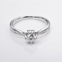 Tiaria DHTXDFJ042 Cincin Tunangan Pernikahan Emas Berlian