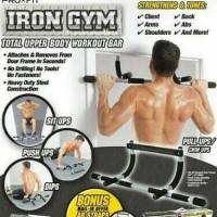 Jual Iron Gym Pull Up Alat Olahraga Fitness Praktis Membentik Otot Tubuh Murah