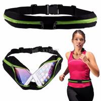Waterproof Sport Belt Single Pocket Tas Pinggang Sabuk Gesper Anti Air