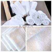 Handuk Sport Muka Kecil Simple Travel Magic Towel Lap Putih Polos