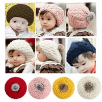 Jual Jual Topi Nanas / Pineapple Hat Topi Anak Rajut Kupluk Korea Tersedi Murah