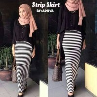 Jual small stripe skirt / rok pencil skinny Murah