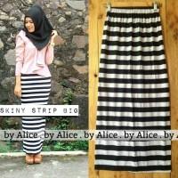 Jual big stripe / skinny skirt murah / rok span pencil Murah