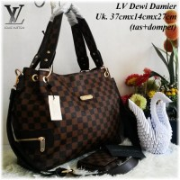 Tas Wanita / Tas Branded Import Louis Vuitton Dewi Set Dompet