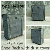 "NINE BOX"" MULTI-FUNCTION SHOE RACK WITH DUST COVER!"