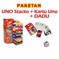 Paketan Uno stacko + Uno Card + Dadu