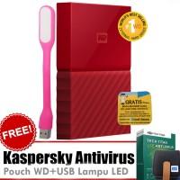 WD My Passport New Design 4TB Merah Free Kaspersky+Pouch+Lampu USB