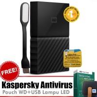 WD My Passport New Design 4TB Hitam Free Kaspersky+Pouch+Lampu USB