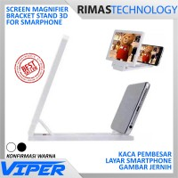 Kaca Pembesar Layar Smartphone / 3D Enlarge Screen Magnifier Stand
