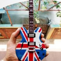 Miniatur Gitar Epiphone Union Jack Noel Gallagher Signature