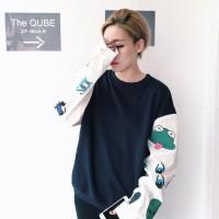 Jual Sweater Wanita Round Hand oversized jepang kaos hoodie import murah Murah