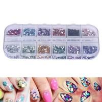 Nail Art Rhinestone / decorasi stiker kuku / Glitters box