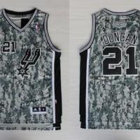 Jersey NBA Spurs 21 Duncan Camo - Import