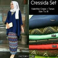 grosir murah baju cressida set tenun etnik batik