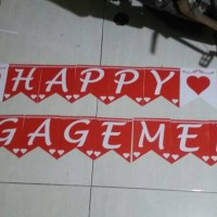 Banner Flag Happy Engagement / tunangan