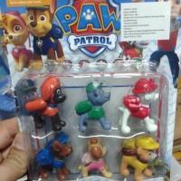 figure paw patrol isi 6 pcs Mini murah hiasan kue