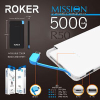 Power Bank ROKER R50 SLIM MISSION 5000mAh FULL Dual Output USB 1.2A 2A