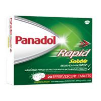 PANADOL Australia Rapid Soluble, Obat sakit kepala, Flu /Tablet larut