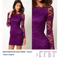 ASOS BODYCON LACE DRESS - Elastic. Made in Bugaria. FASHIONme FO