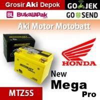 Aki kering/ New Mega Pro Honda/ MOTOBATT MTZ5S/ accu gel motor AB