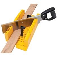 Gergaji Kotak Potong Pigura Sudut Clamping Mitre Box Stanley 20-600