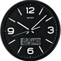 Seiko Wall Clock QXL010K Black Lumibrite / Jam Dinding QXL010
