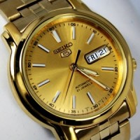 Jual Seiko 5 SNKL86K1 Automatic Full Gold Color   Jam Pria SNKL86 Murah
